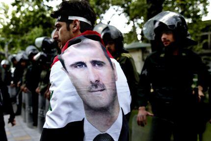 Bashar al-Assad's face on clothing