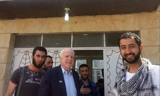 US senator john mccain visited syrian rebels earlier this week
