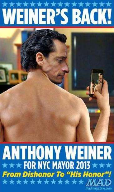 Anthony Weiner for NYC Mayor Mad Magazine