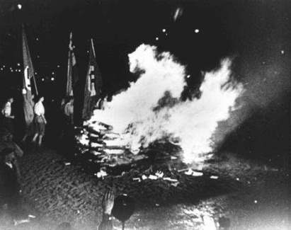 Burning of book in Germany, 1933