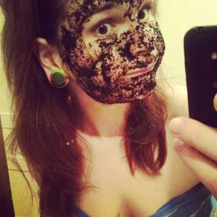 white girl in black face