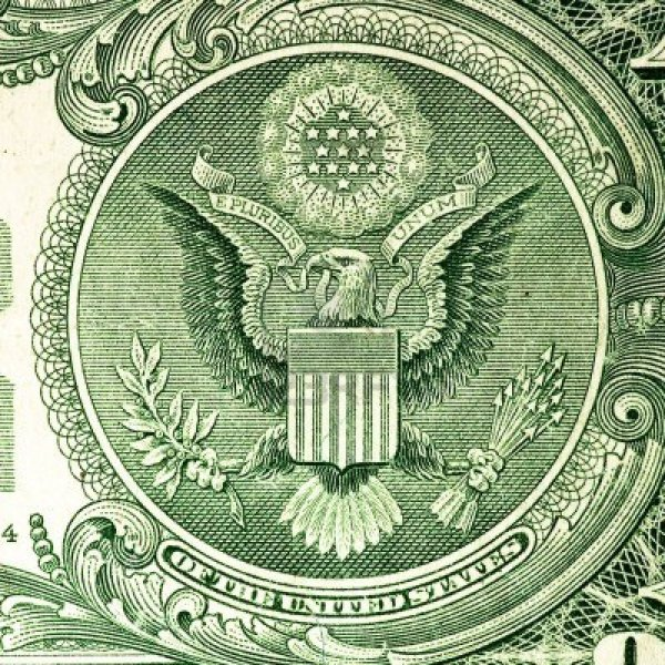 American Dollar close up