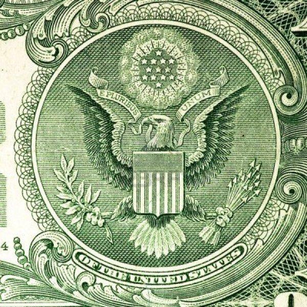 American Dollar close up