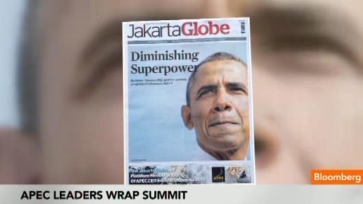 President Obama on front page of Jakarta Globe newspaper