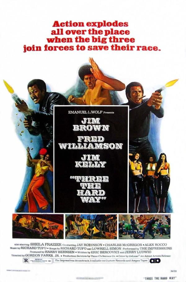 three the hard way movie poster