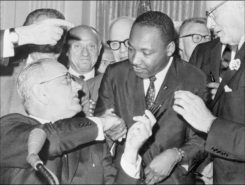 civil rights act mlk and lbj