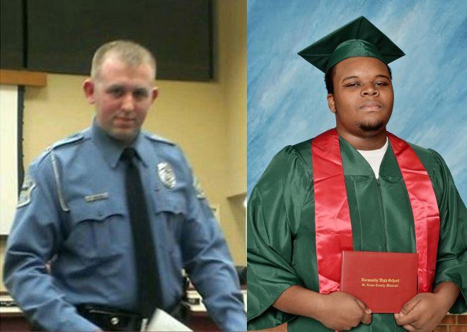 officer darren wilson and high school graduate michael brown ferguson missouri