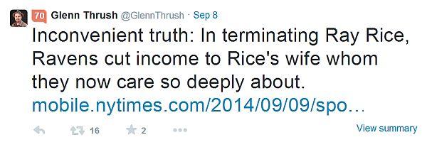 glenn thrush tweet about rice suspension