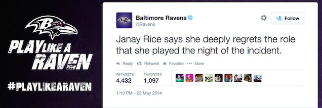 janay rice takes blame live tweet