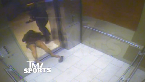 ray rice with unconscious janay outside elevator
