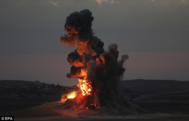 while anti-islamic state coalition defends kobane, syria, isil and jabhat al-nusra fighters attacked idlib