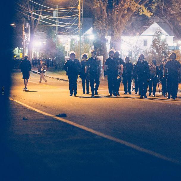 riot police at keene pumpkin festival