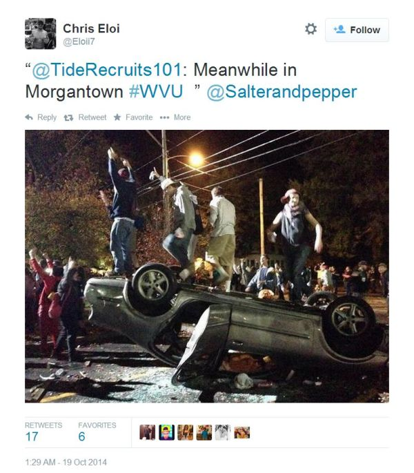 west-virginia-students-overturn-cars-in-riot-after-win-over-baylor