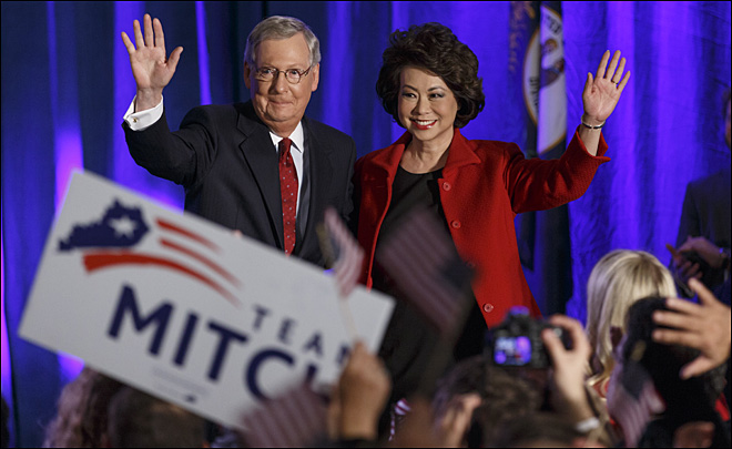 Senate Minority Leader Mitch McConnell of Ky will now lead senate