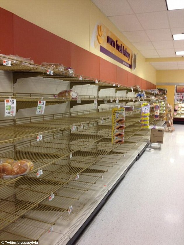 run on bread and milk in advance of east coast snowstorm