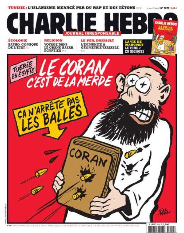 charlie hebdo muslim shot le coran c'est de la merde egypt