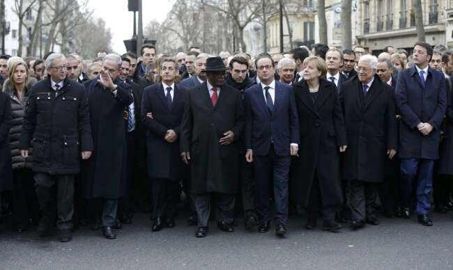millions march in france with world leaders to recognize charlie hebdo employees murdered by islamic terrorists