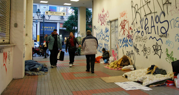 greece poverty and homelessness during austerity