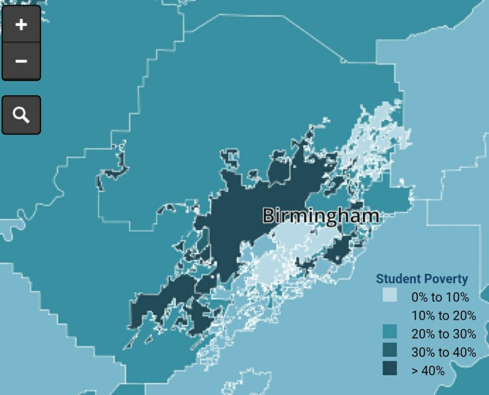 Jefferson County Alabama poverty map