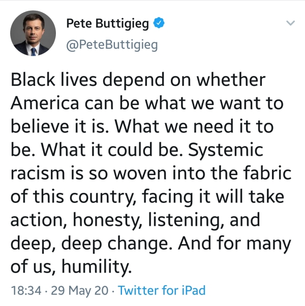 pete buttigieg black lives matter