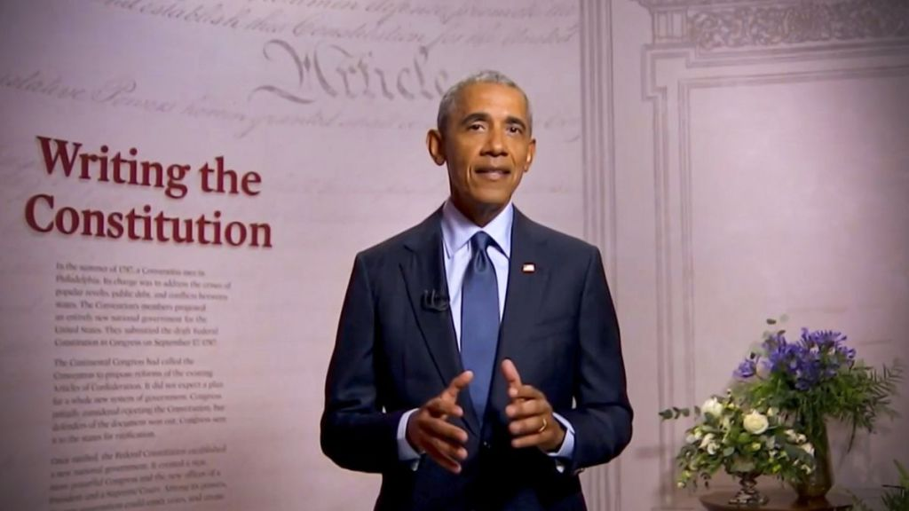 obama speech on democracy at risk at 2020 democratic national convention