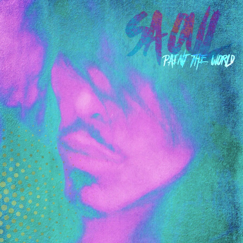 """Saoul """"Paint the World"""" album cover for music review"""